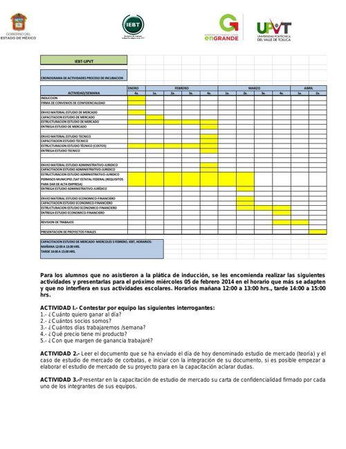 CRONOGRAMA ENERO-ABRIL14