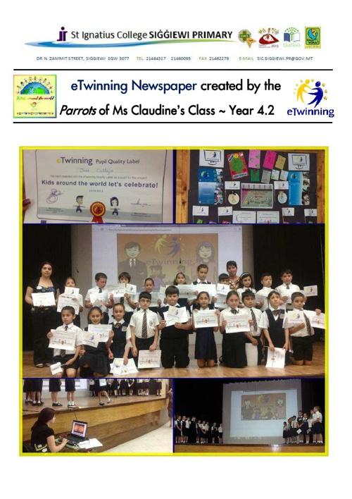 eTwinning Newspaper 2013 - Year 4.2 ~ Siggiewi Primary, MALTA