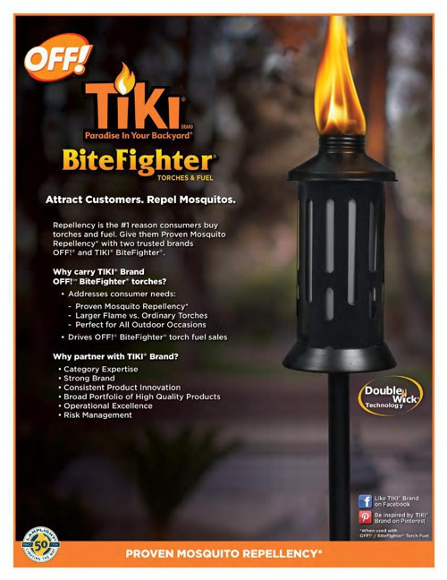 2015 - TIKI® / OFF!® BiteFighter® Torches and Fuel