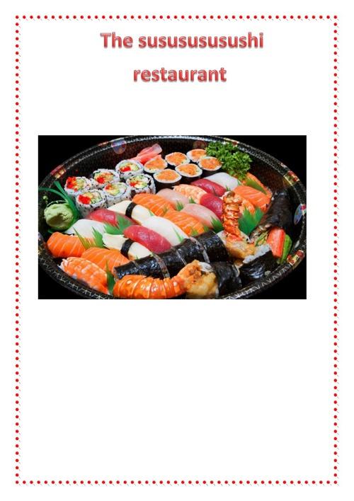 Ordering in the susususushi restaurant