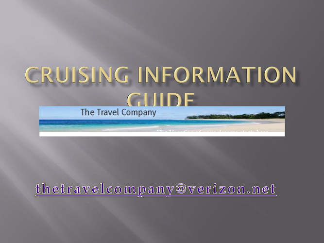 Cruise Information and tips