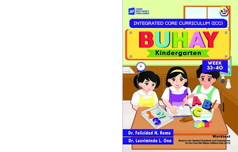 Integrated Core Curriculum BUHAY Kindergarten Week  33-40