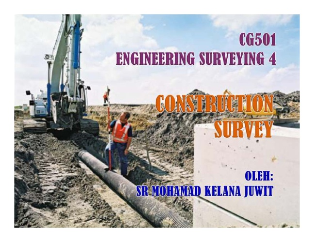 CONSTRUCTION SURVEY