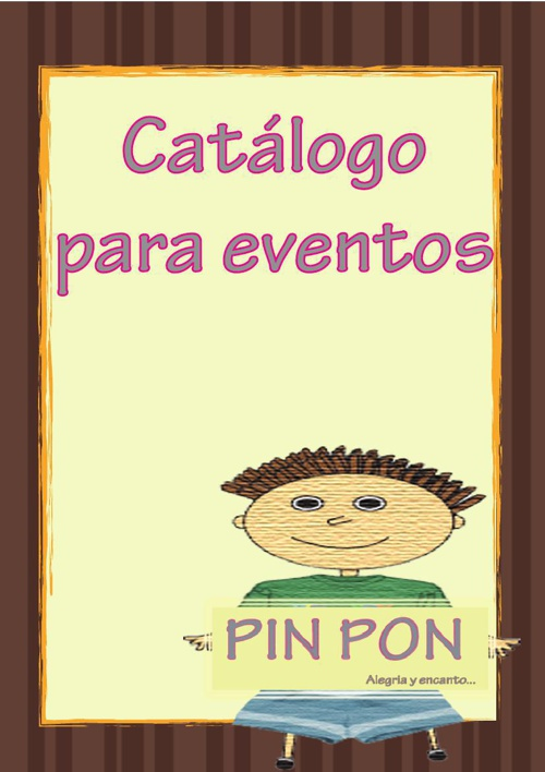 CATALOGO PIN PON1