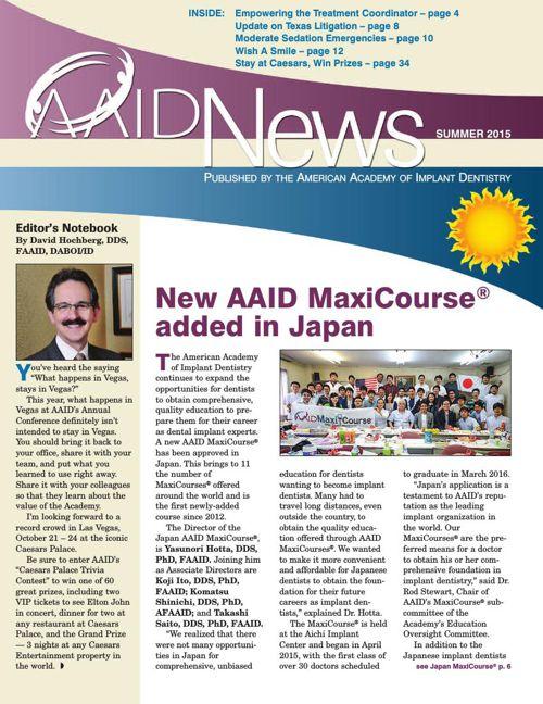AAID News Summer 2015