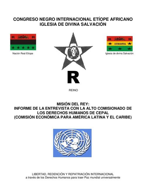 INFORME DE LA ENTREVISTA DE LA ONU