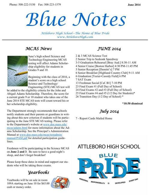 Blue Notes June 2014