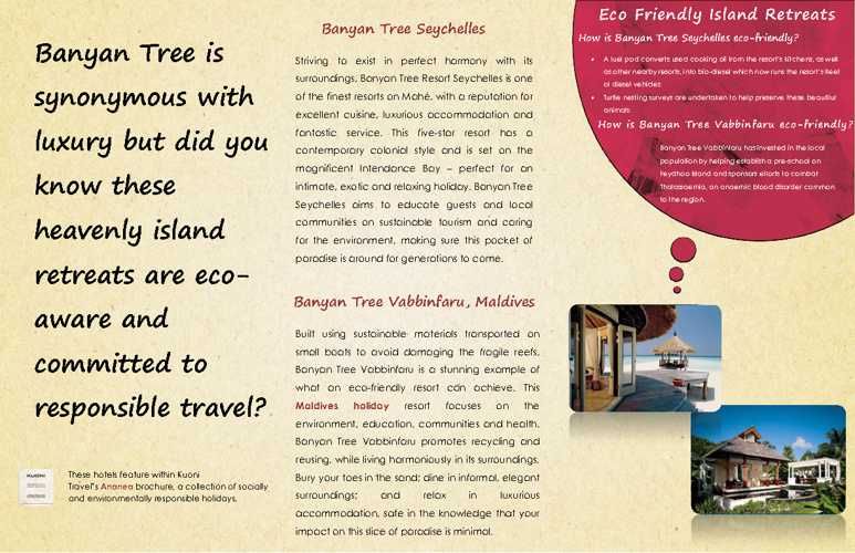 Eco Friendly Island Retreats