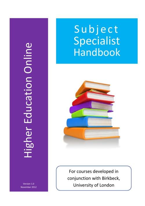 Birkbeck Subject Specialist Handbook