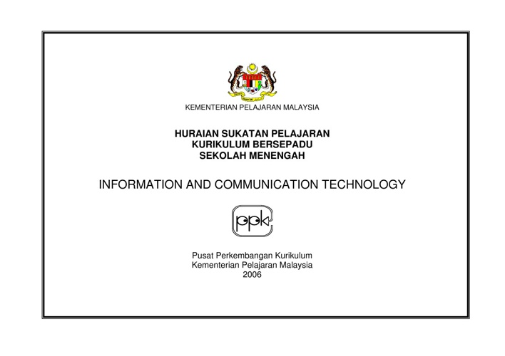 Sukatan Pelajaran ICT (English)
