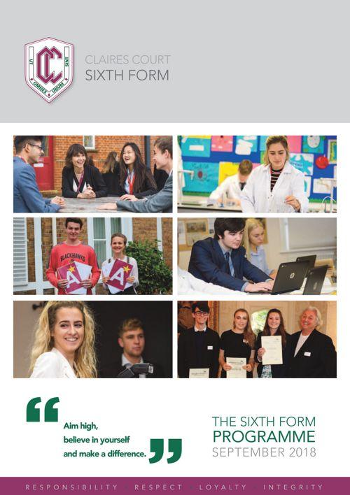 Sixth Form Programme 2018