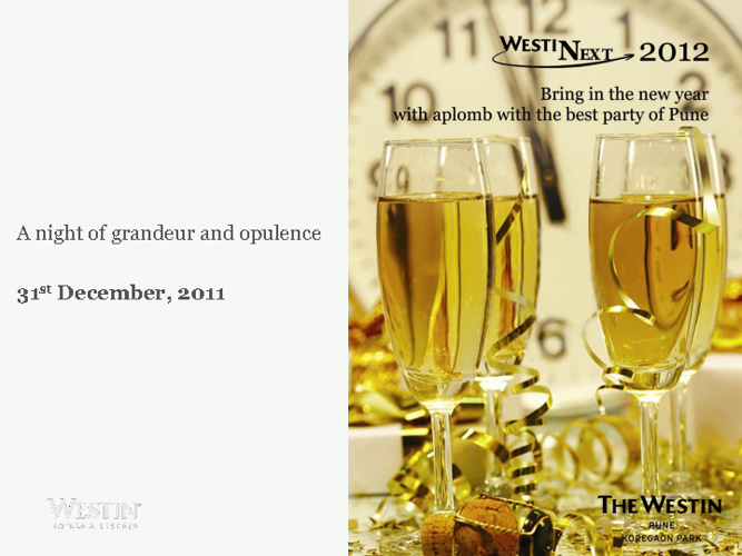 New Year Eve Celebration - The Westin Pune Koregaon Park
