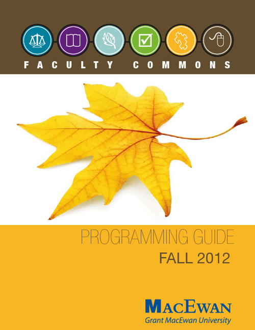Faculty Commons Fall 2012 Programming Guide