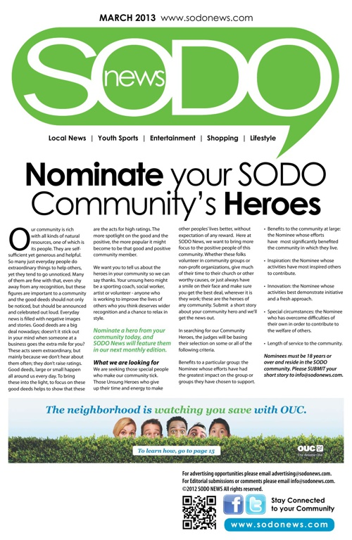 SODO News March 2013