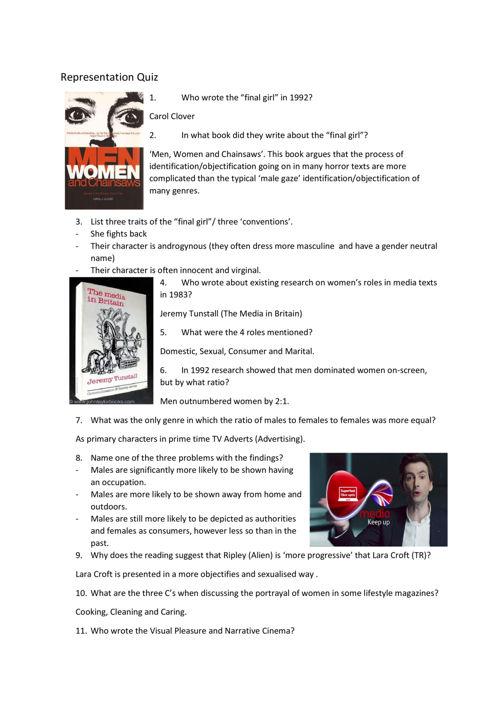 represntation quiz