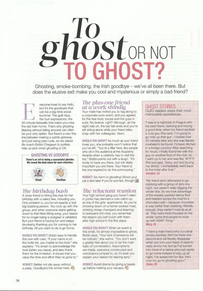 Cleo October 2015 Feature on Ghosting