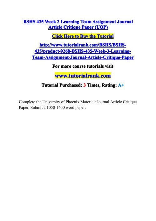journal assignment week 3 8