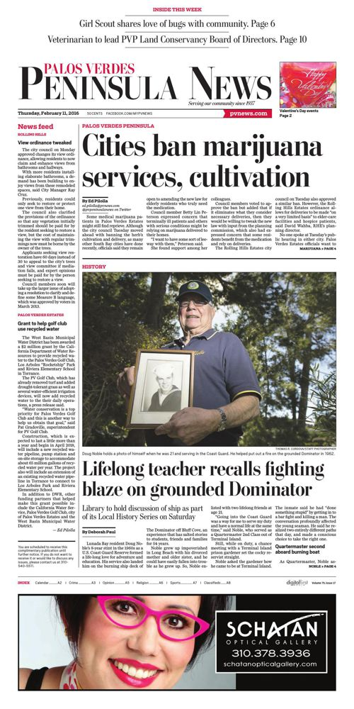 Palos Verde Peninsula News | 2-11-16