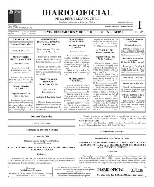 Diario Oficial 20130108