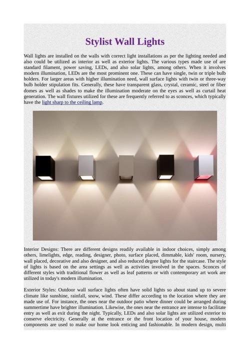Stylist Wall Lights