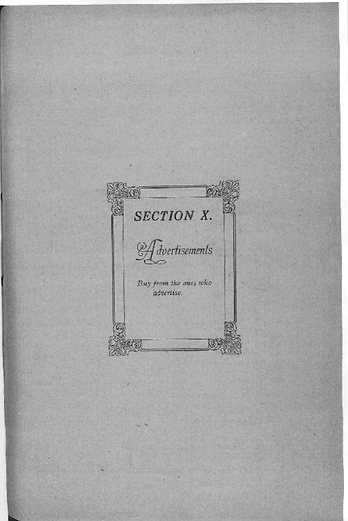 OHS 1916 Yearbook - Advertising
