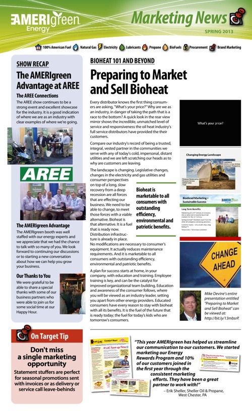 AMERIgreen Spring Marketing Newsletter - 2013