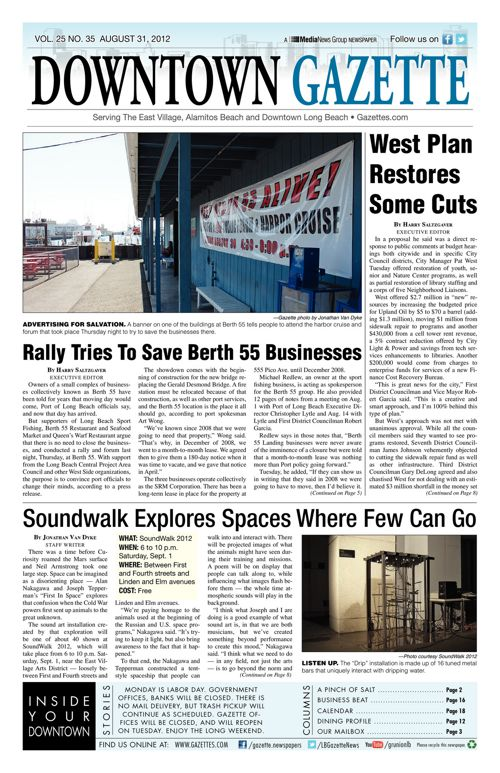 Downtown Gazette  |  August 31, 2012