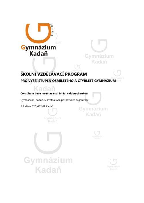 Školní vzdělávací program (4 leté Gymnázium)