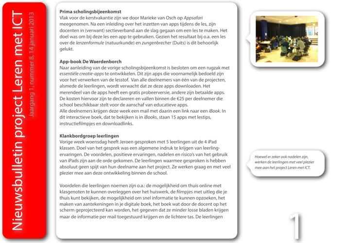 Nieuwsbulletin Leren met ICT, jaargang 1, nummer 8