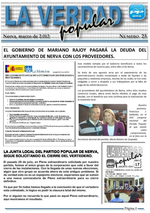 """Revista Digital """"La Verdad Popular Nº 23"""""""