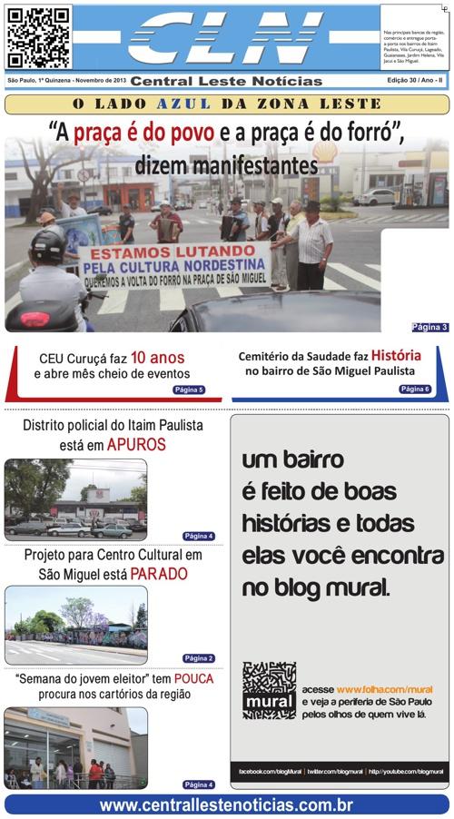 EDIÇÃO 030 JORNAL CLN - CENTRAL LESTE NOTICIAS