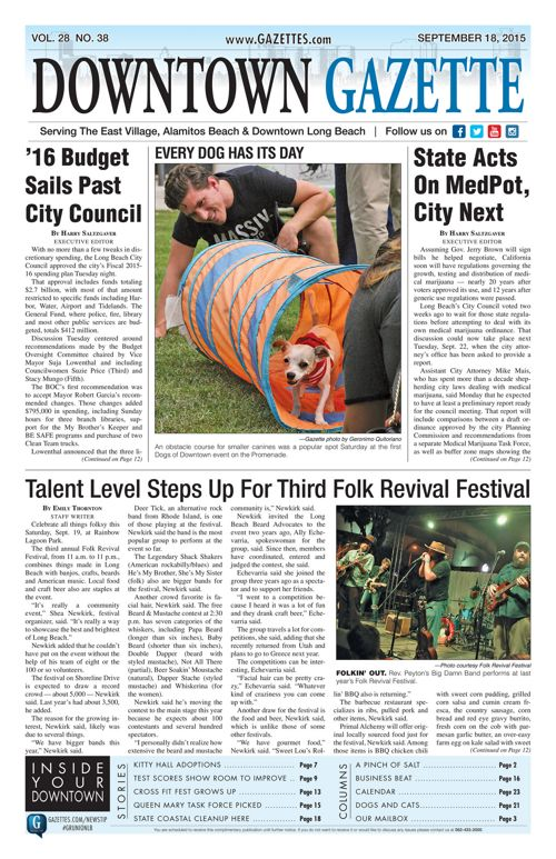 Downtown Gazette  |  September 18, 2015