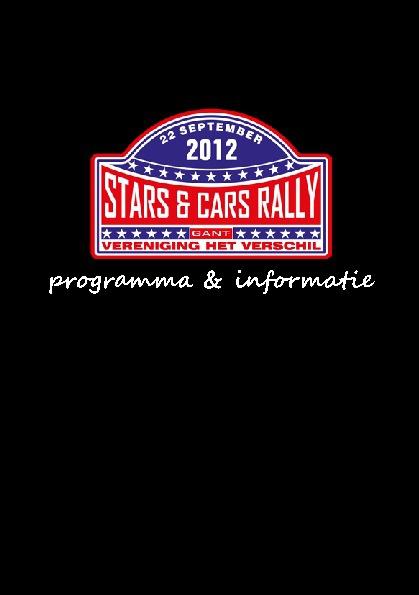 Programmaboekje Stars & Cars 2012