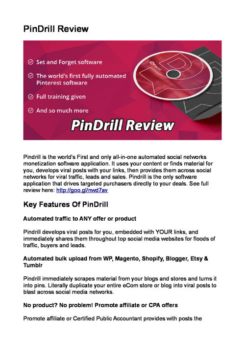 PinDrill Review