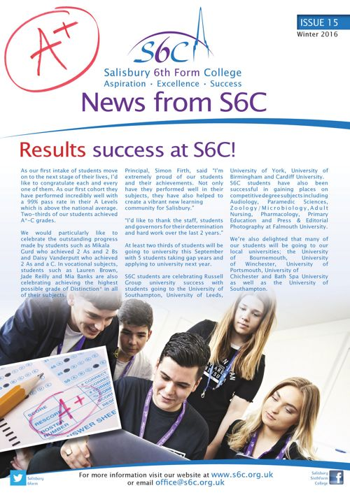 S6C Newsletter A4 Issue 15 - singles