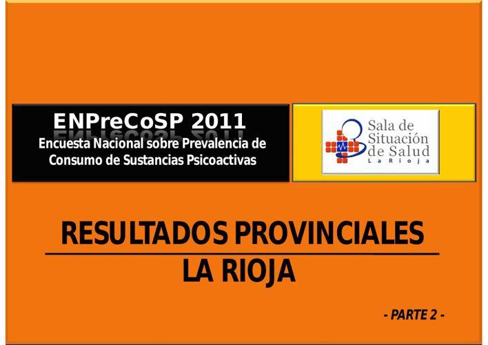 ENPreCoSP 2011_ResultadosProvincialesLaRioja_Tomo2_SDSS2015