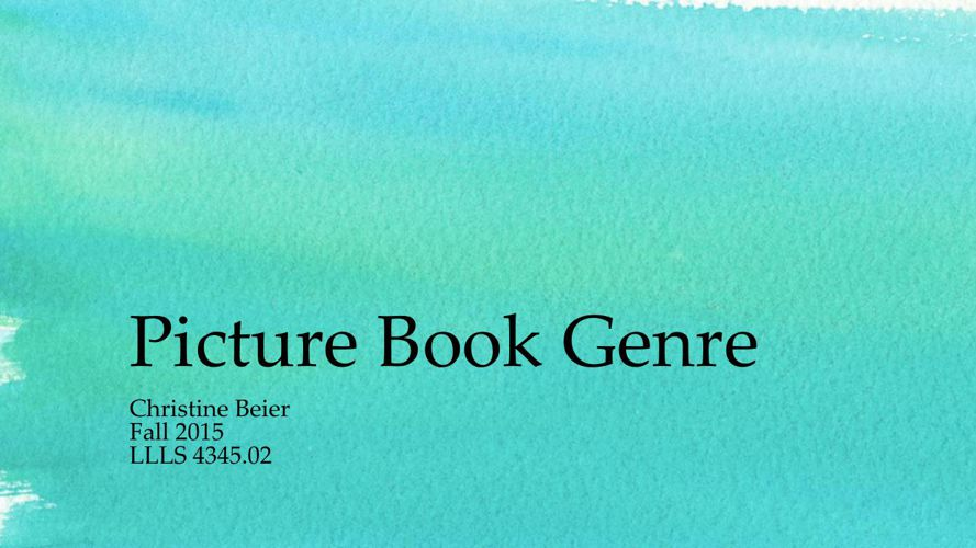 Picture Book Genrepdf
