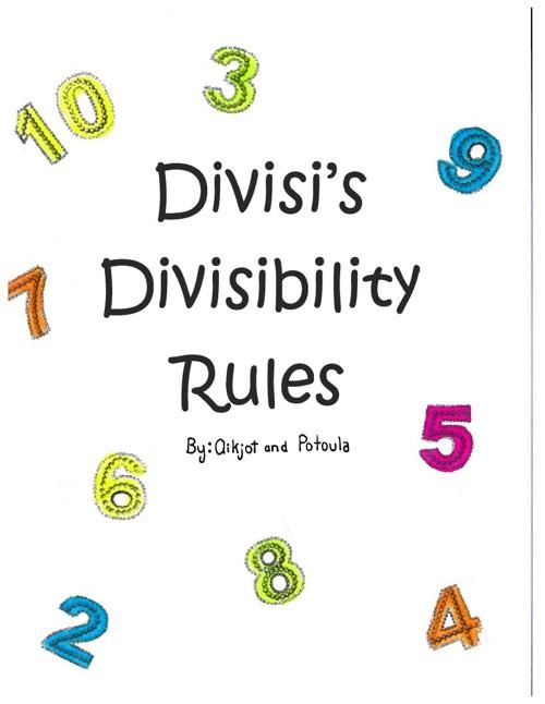Divisi 's Divisibility Rules Potoula+Aikjot