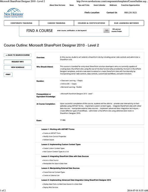 Microsoft SharePoint Designer 2010 - Level 2