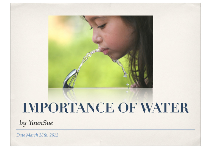G7: Science- Importance of water