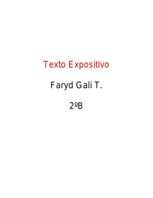 Faryd Gali Traconis 2°B Texto expositivo