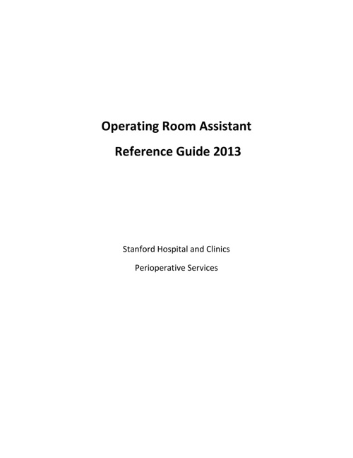ORA Reference Guide 2013
