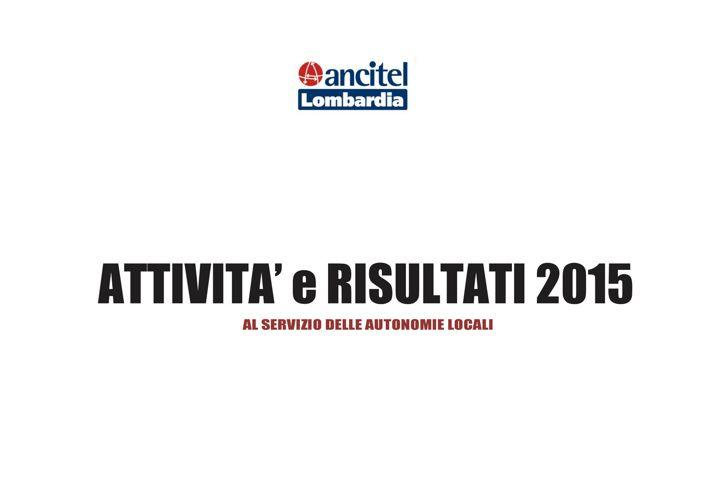 Report Attività 2015