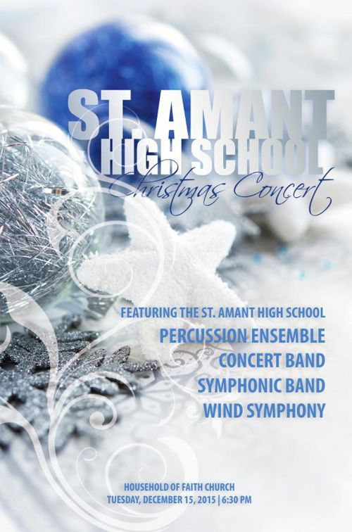 St. Amant High Band Christmas Concert 2015