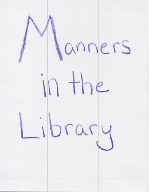 Manners in the library- 2nd grade