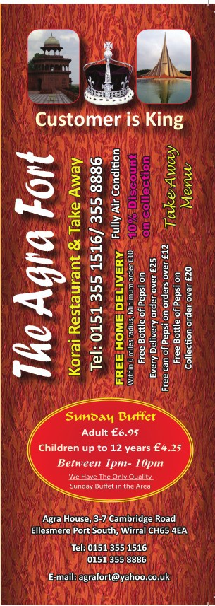 Agra Fort Takeaway Menu