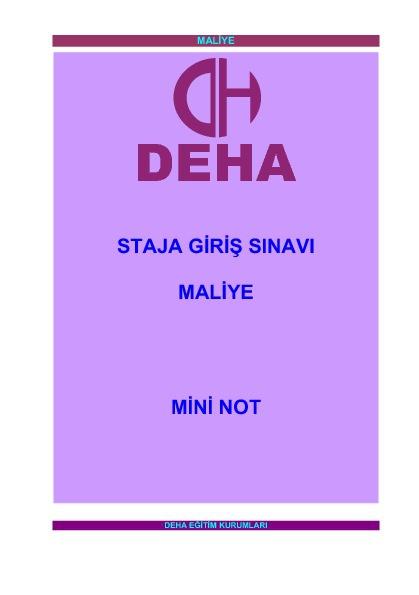 Maliye - Mini Not