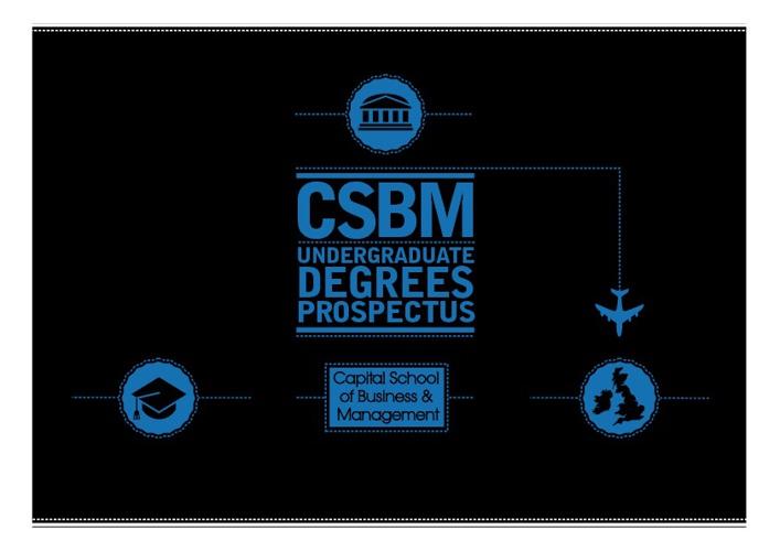 CSBM Undergraduate Prospectus