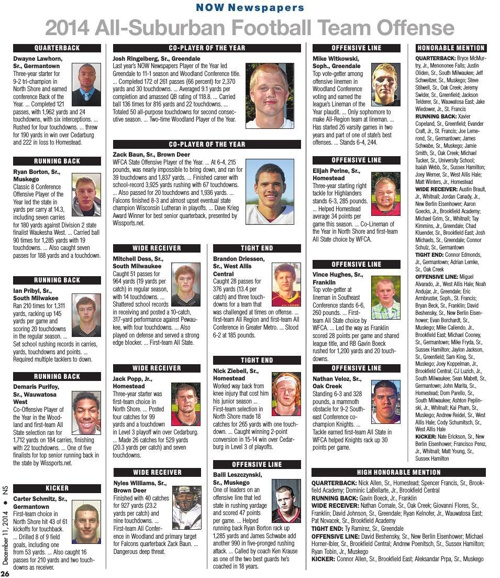 2014 All-Suburban Football Team