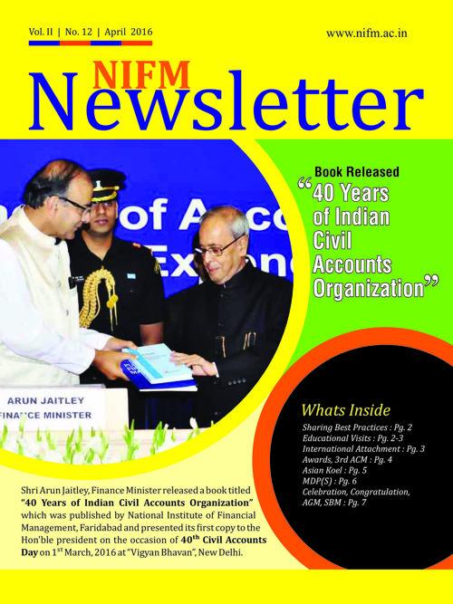 News Letter April 2016 new